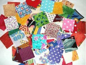 lot de 100 coupons de tissu patchwork multicolores