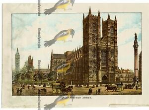 Westminster-Abbey-London-England-Book-Illustration-Print-1891