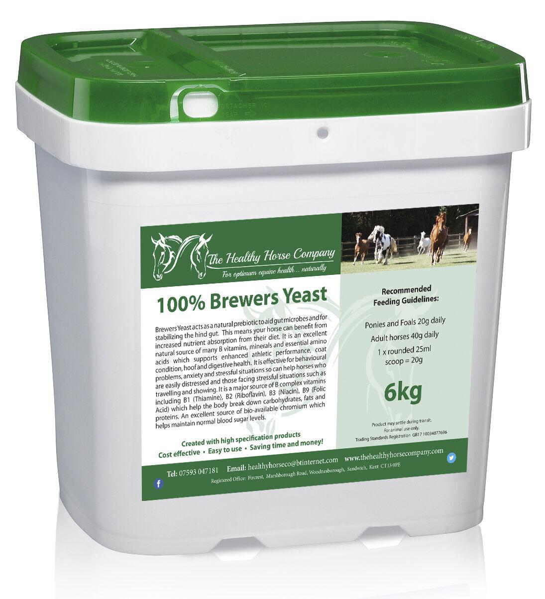 Brewers Yeast 6kg Tub (Digestion, B Vitamins)