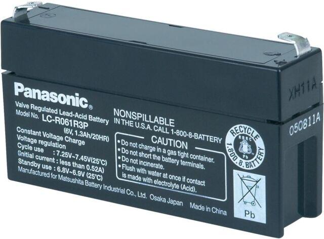 6 V 1,3 Ah 1300mAh Bleiakku Bleigel Akku Panasonic LC-R061R3P