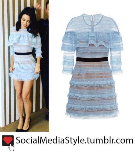 Zelfportret jurk Maat Vk Stripe 12 Grid Mini yw80nvOmN