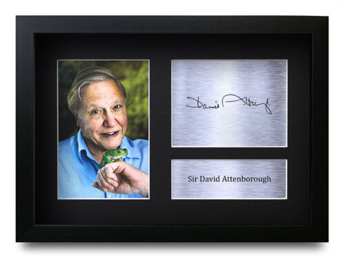 David Attenborough Signed Pre Printed Autograph Photo Gift For a  Fan