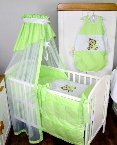 Baby Bettwäsche Himmel Nestchen Bettset mit Applikation Bär Decke 100x135 cm Neu