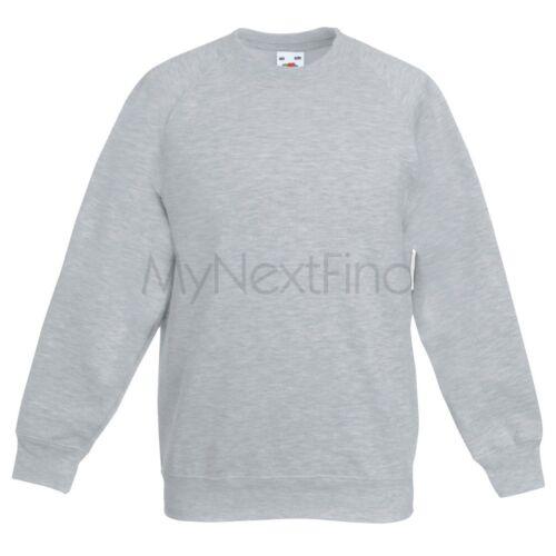 Fruit of the Loom Classic 80//20 Boys Girls Raglan Sweatshirt