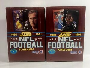 2-1991-Score-Football-series-1-Football-factory-sealed-card-boxes