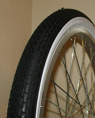 BRICK PATTERN WHITE WALL 2 Tubes 47-406 2 NEW DELI BICYCLE TIRES,20X1.75