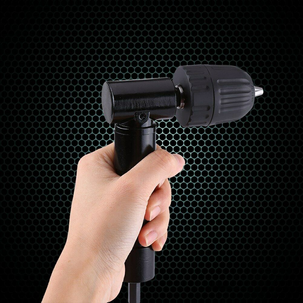 Impact Ready Right Angle 90 Degrees Drilling Extension Chuck 8mm Shaft Electric Drill Extension Tool