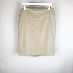 Ann-Taylor-Womens-Skirt-Size-6-Beige-Cotton-Lined