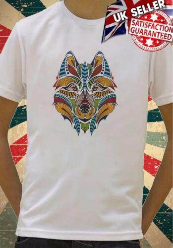 colourful wolf rainbow Boys Girls Birthday gift Top T shirt 32