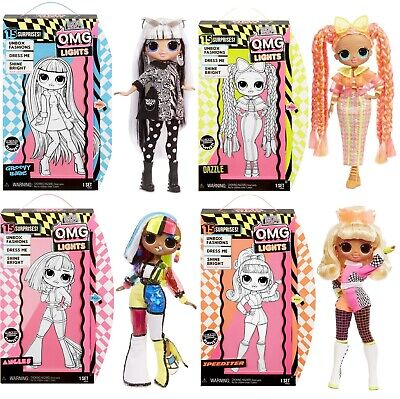 New Lol Surprise Doll Omg Lights Fashion Dolls Complete Set Of 4 Ebay