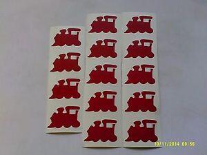 20 - 500 Red train stickers fun children transport travel boys Thomas Tank