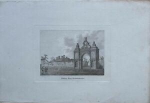 c1822-ANTIQUE-PRINT-HOLDENBY-HOUSE-NORTHAMPTON