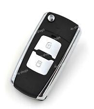 Only Shell Flip Folding Remote Key Case FOR Hyundai Santa Fe Elantra 2 Buttons
