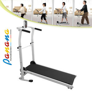 folding manual treadmill running machine cardio fitness exercise rh ebay com manual treadmill vs running outside manual treadmill for running reviews