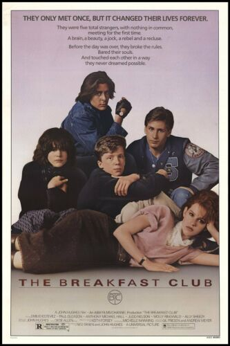 BREAKFAST CLUB ONE SHEET 24x36 poster JOHN HUGHES EMILIO ESTEVEZ CLASSIC 80/'S!!!