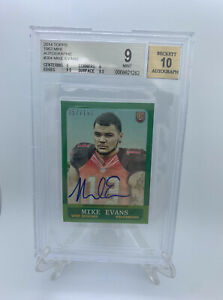 2014-Topps-1963-Mini-Mike-Evans-Rookie-Auto-RC-57-150-Bgs-9-Auto-10
