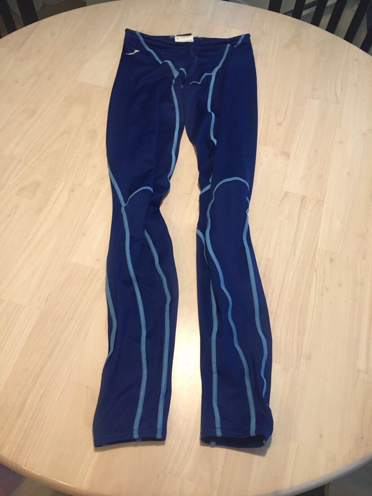 Mens Speedo Fastskin Swimsuit  Swimming Legging Sz 30 32 Med Spandex Skinsuit