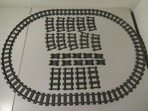 (g11) Lego Rc Rails Voies Douces Précisément En Arc 7938 7898 60051 60052