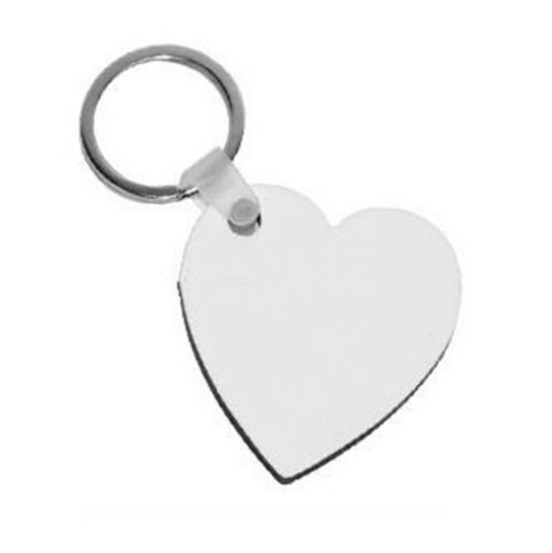 Blank MDF Board Sublimation Printing Keyrings For Heat Press Machine 5 Styles