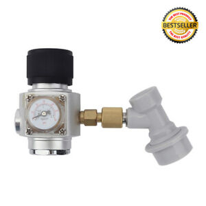 Mini Corny Keg Regulator Gas CO2 Charger Kit 0-30 PSI Disconnect Home Brew Beer