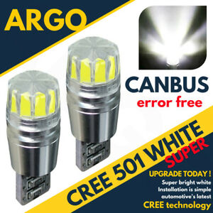 FRONT-PARKING-SIDELIGHTS-501-T10-194-W5W-CANBUS-5W-CREE-WHITE-SMD-LED-HID-BULBS