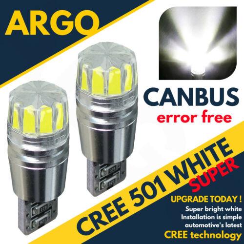 2 X SMD WHITE CANBUS ERROR FREE 501 SIDELIGHT BULBS SUZUKI SV 650 S