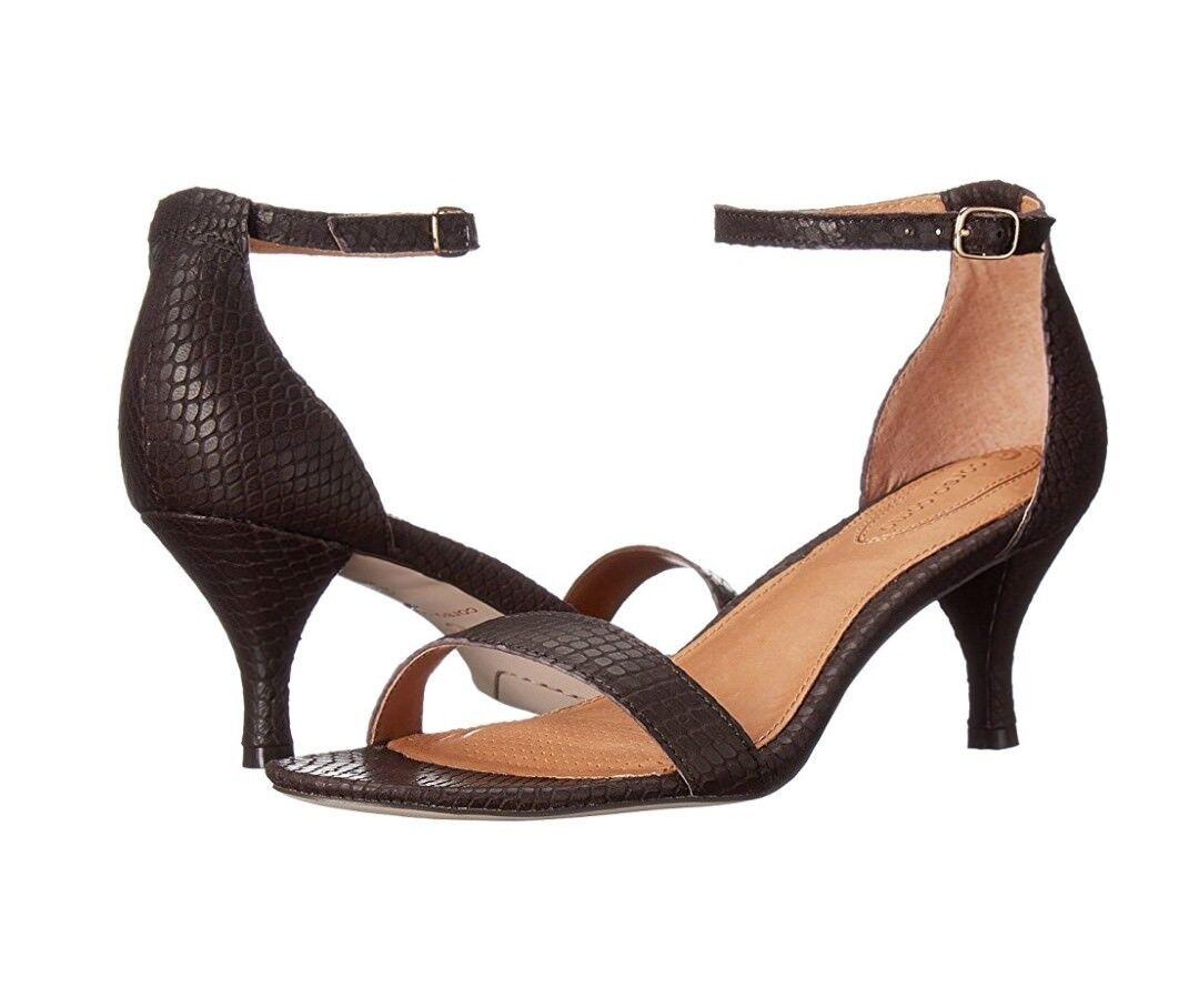 Corso Como Caitlyn Sandal Dark braun Solid Snake Sz Sz Sz 7.5  109 4d9813