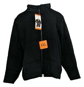 3 Dots Women's Jacket Sz XXL Quilted Soft Fleece Mock Neck Zipper Jacket Black