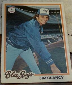 Jim Clancy Blue Jays 1978 496 Topps Baseball Card Gd Cond Ebay