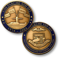 USS Parche Challenge Coin SSN-683 US Navy Nuclear Attack Submarine Ship Boat USN