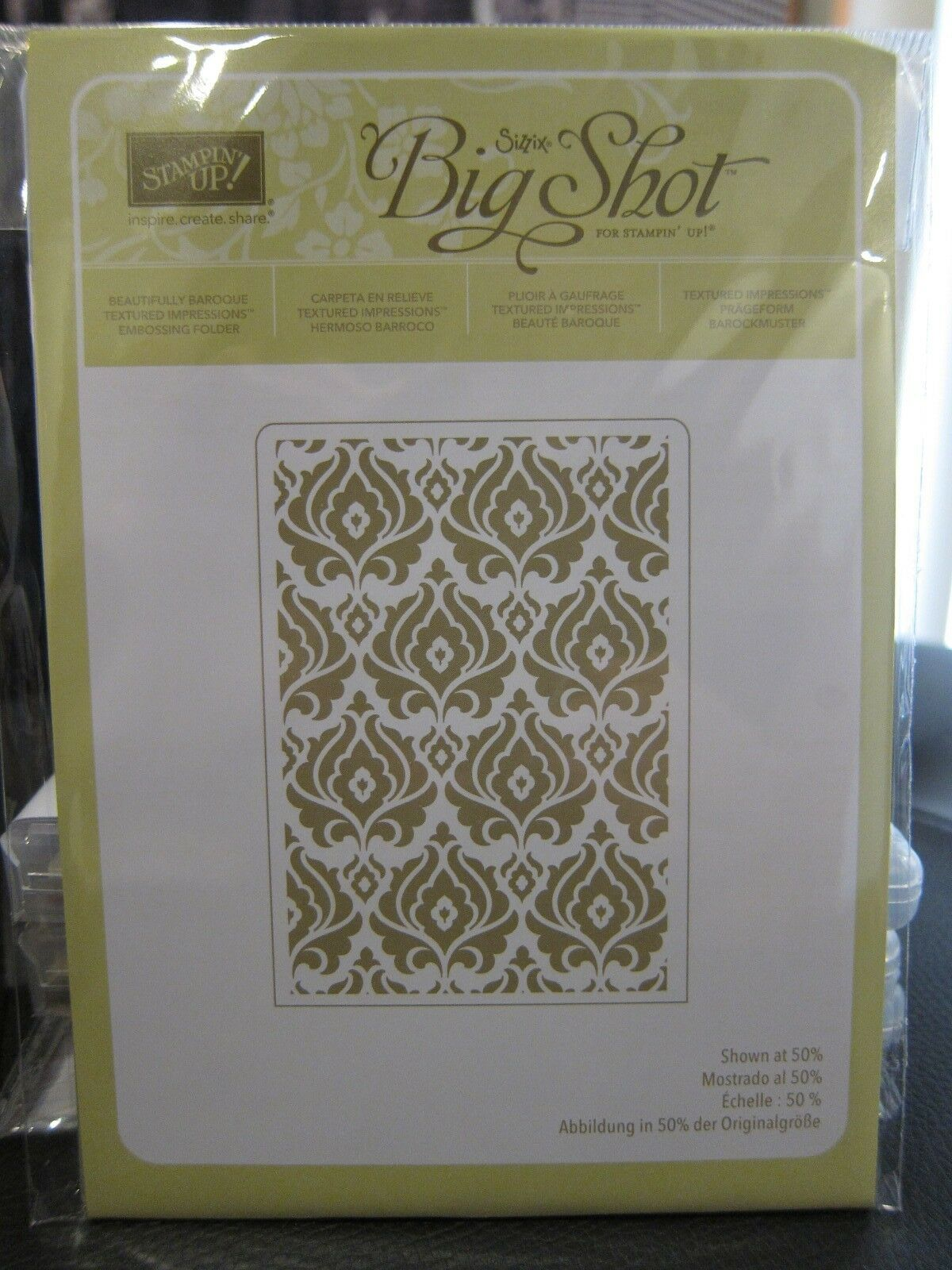 Stampin Up Pick an Embossing Folder for Big Shot Sizzix Textured Impression~ A10