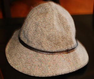 Image is loading Coach-Womens-Bucket-Hat-with-Leather-Trim-Sz- 9e58a41d04a