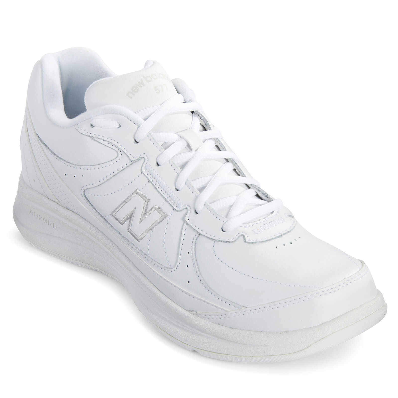 Men's New Balance Hook And Loop 577 Shoes Wide 2E White
