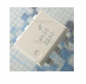 10Pcs 4N35 FSC Optocouplers Phototransistor 30V DIP6 ICBDSE