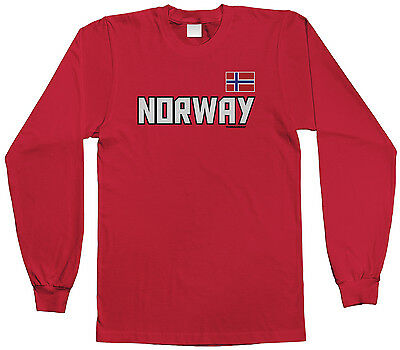 Threadrock Kids Norway National Team Youth L//S T-shirt Norwegian Country Pride