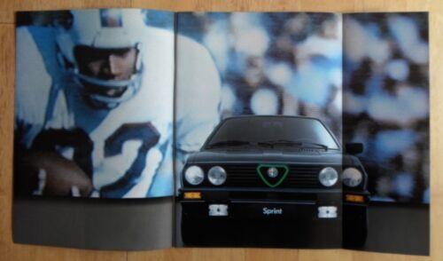 ALFA ROMEO Sprint 1.3 /& 1.5 Cloverleaf 1984 UK Mkt Glossy Prestige Brochure