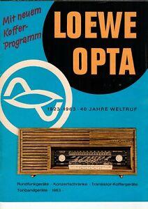 LOEWE-OPTA-Prospekt-Broschuere-Radio-Tonband-Jubilaeums-Serie-1963-B13657