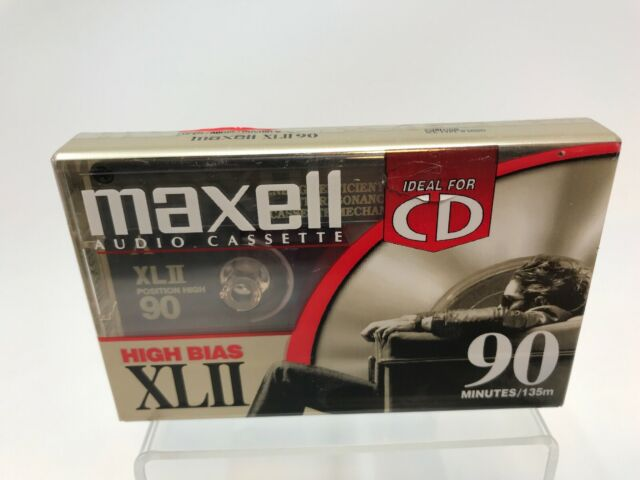New Maxell High Bias XLII 90 Blank Cassette Made In Mexico