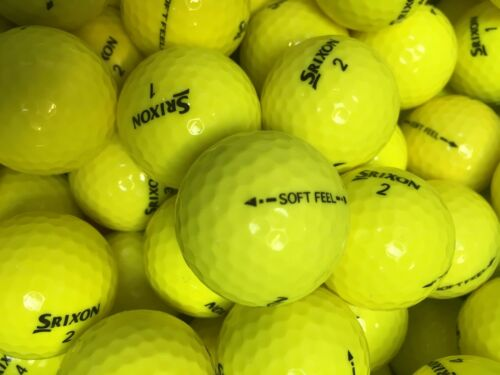 100 PEARL A GRADE SRIXON SOFT FEEL YELLOW GOLF BALLS ,FREE DELIVERY