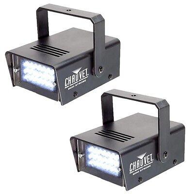 2) CHAUVET DJ CH730 Adjustable 1-12 Flash/Sec Mini Strobe LED Club Light Effects