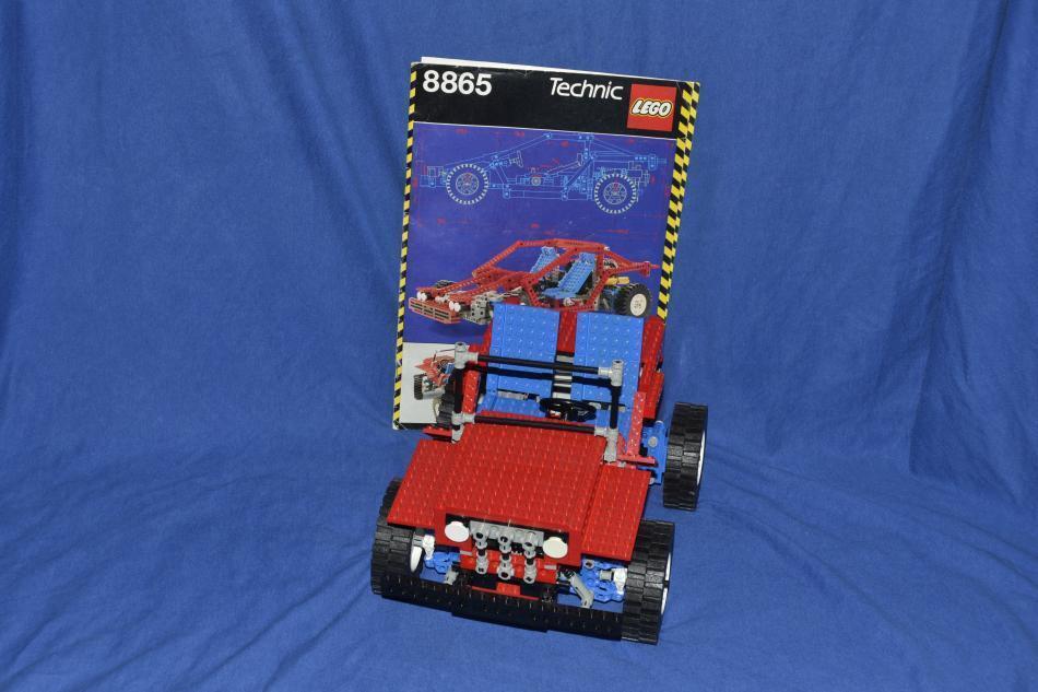 LEGO set 8865 Technic Test bil mit Bauanleitung bil med instruktion