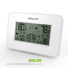 Baldr Backlight Alarm Clock In/Outdoor Temperature Hygrometer Weather Station