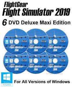 Details about Flight Simulator 2019 DELUXE Edition X Flight Sim Windows 10  8 7 ME PC 6 x DVD