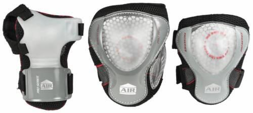 Powerslide Protection Pro Air Men Schützer Schoner 3er-Set schwarz-weiß NEU