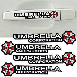 4pcs-Resident-Evil-Umbrella-Sticker-Car-Door-Handle-Decal-Emblem-Vinyl-Graphic