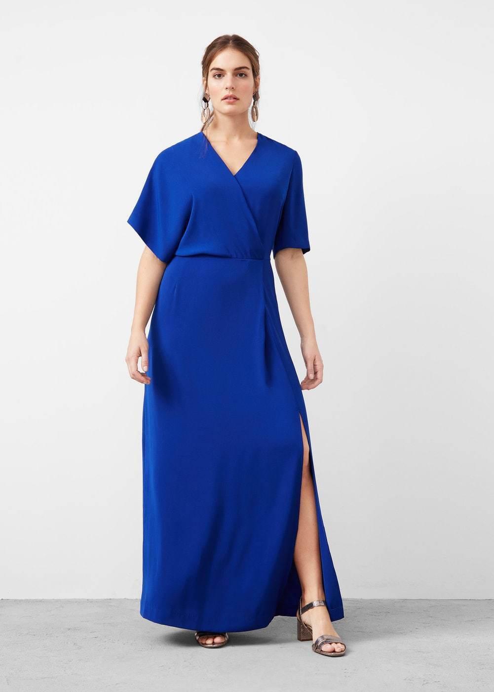 Mango Draped Detail Dress bluee Size LF076 NN 08