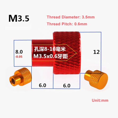Details about  /M3 M3.5 M4 Aluminium Alloy Hohe Form Rändelmutter Sackloch Handknauf Muttern Nut