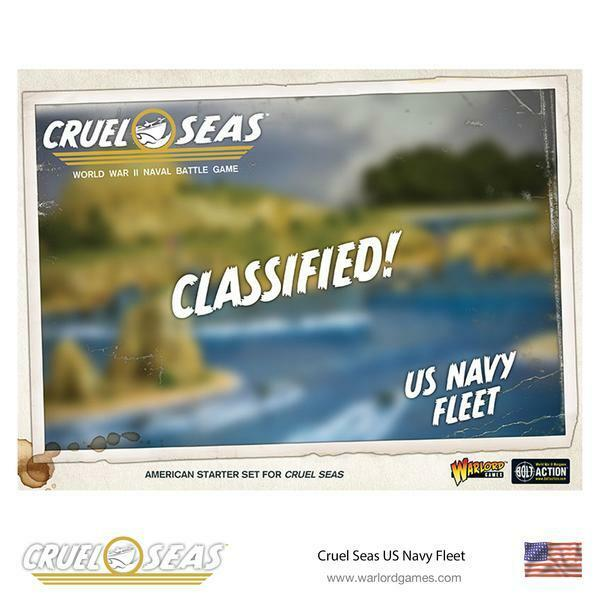 US NAVY FLEET  - WARLORD GAMES - WORLD WAR 2 NAVAL GAME - SHIPPING NOW