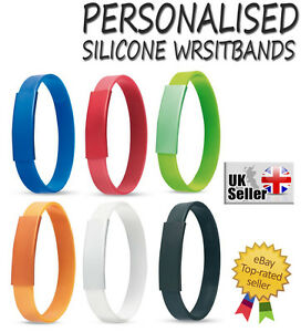 Details about  /Custom Personalised Silicone Wristbands 12mm ANY NAME ANY TEXT Bracelets