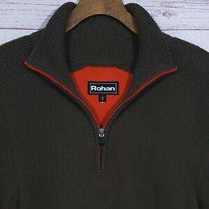 Mens-Rohan-Reykjavik-Lambswool-Half-Zip-Funnel-Neck-Jumper-Pullover-Size-Small